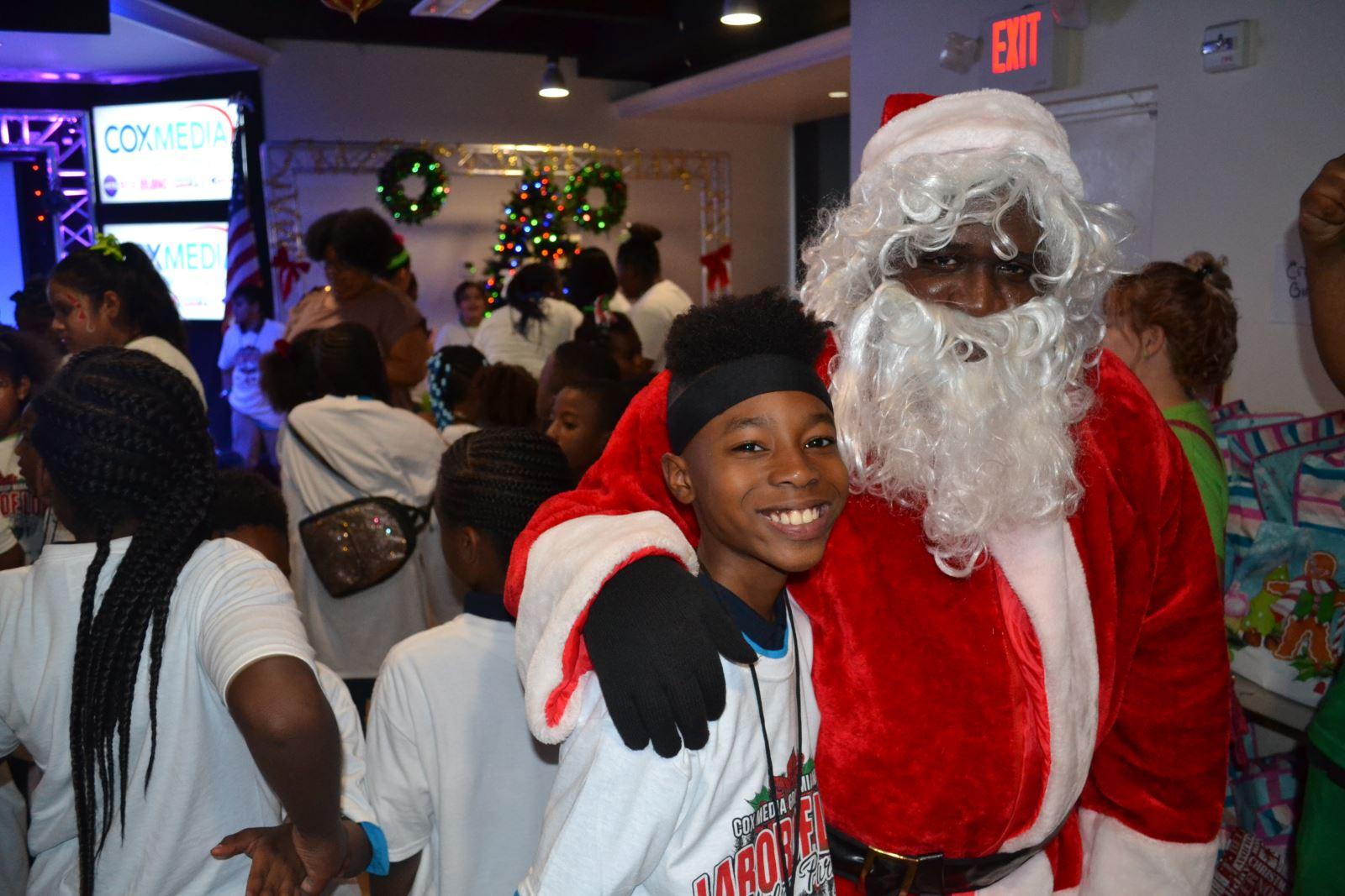 Club Member with Santa