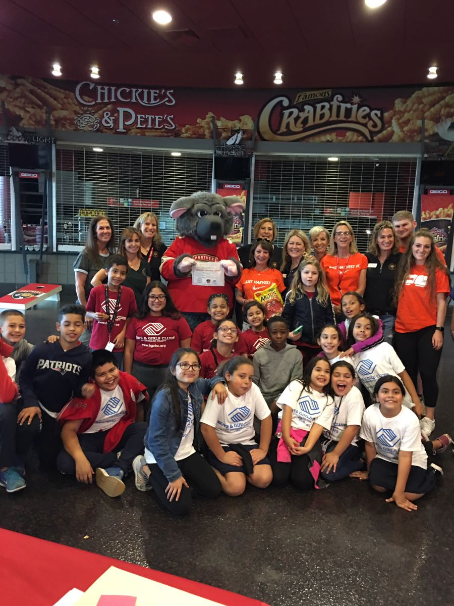 Group shot Panthers and Harvest Drive