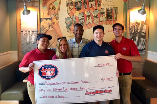 Jersey Mike's Check
