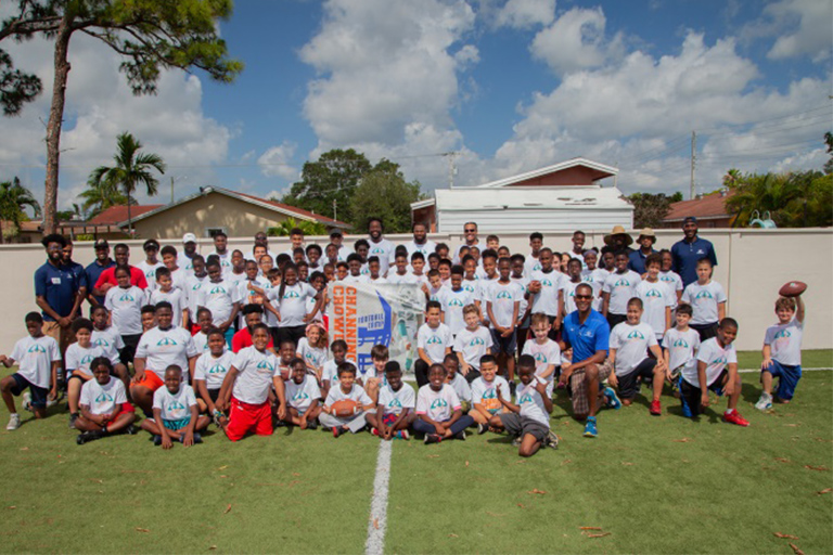 Football Camp group picture