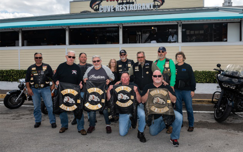 Group Shot of Bikers at The Cove