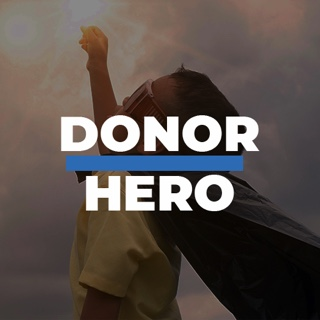 Logo for Donor Heros