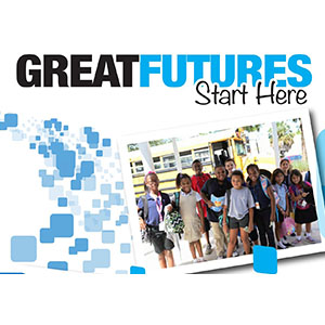 Tagline great future start here.