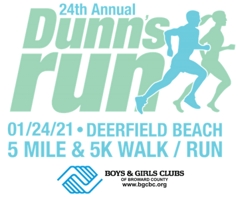 24th Annual Dunns Run 01/24/2021 Deerfield Bach 5 mile & 5 K walk / run