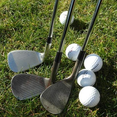 Golf irons and balls
