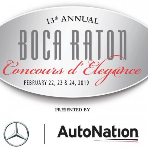 Event logo, including dates of february 22,23,24 presented by auto nation