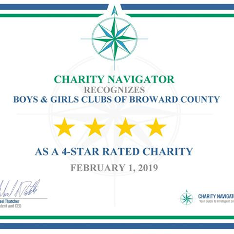 Charity Navigaor 4-Star Award