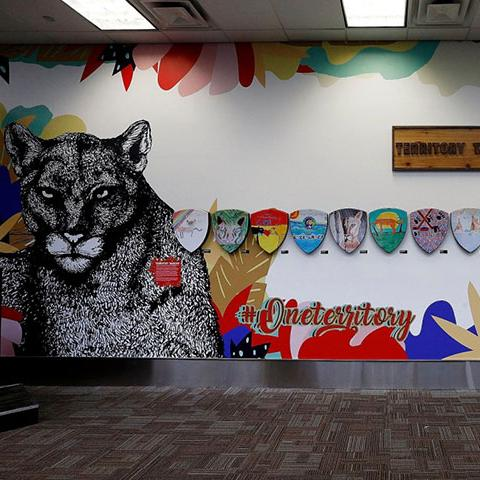 Panther Art Wall